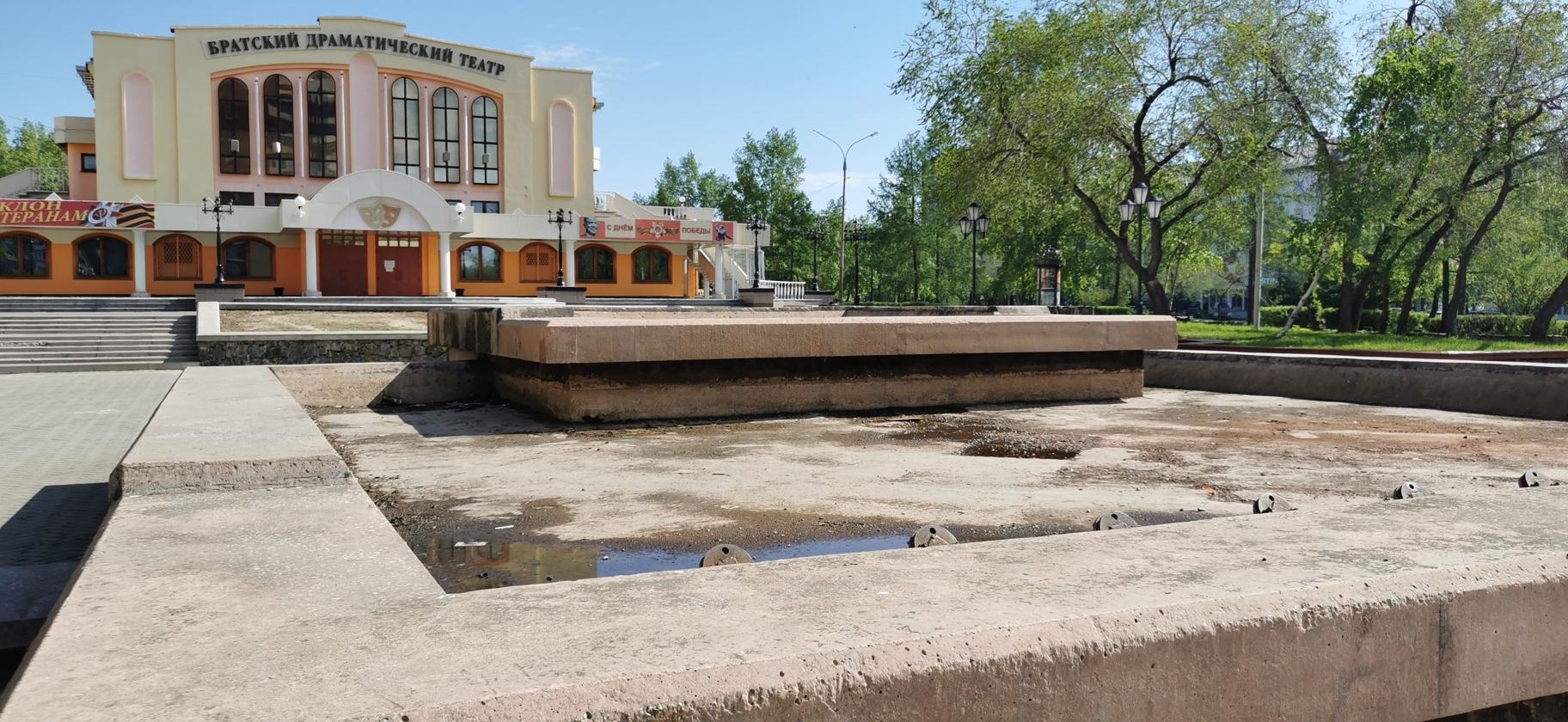 Подготовка к запуску фонтанов началась в Братске